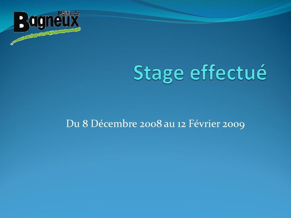 Du 8 Décembre 2008 au 12 Février 2009