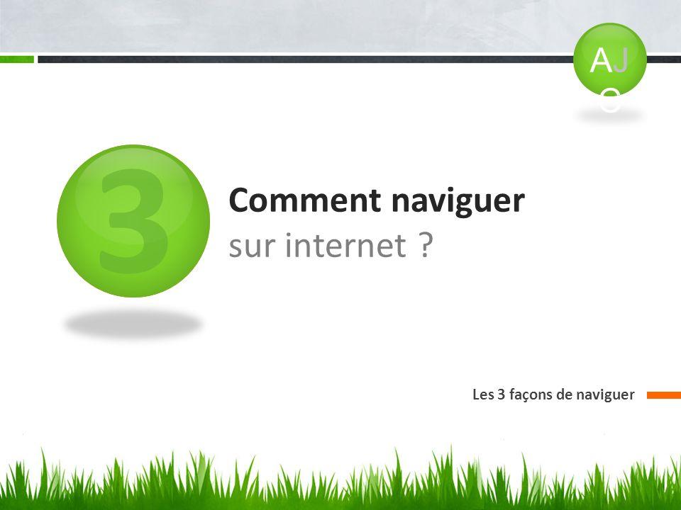 3 Comment naviguer sur internet ? Les 3 façons de naviguer AJCAJC