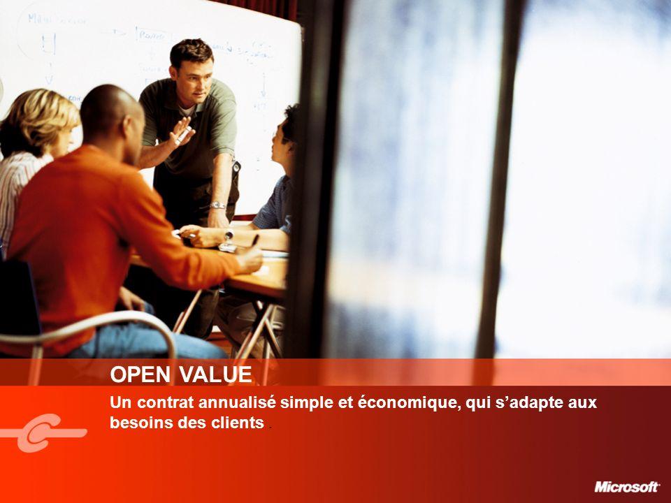 OPEN VALUE Un contrat annualisé simple et économique, qui sadapte aux besoins des clients.