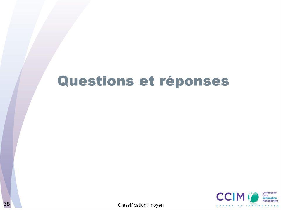 38 Classification : moyen 38 Questions et réponses