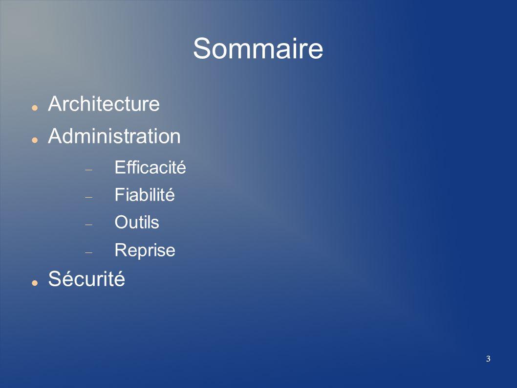4 Architecture Le système de base de données MySQL est une application de type Client / Serveur.