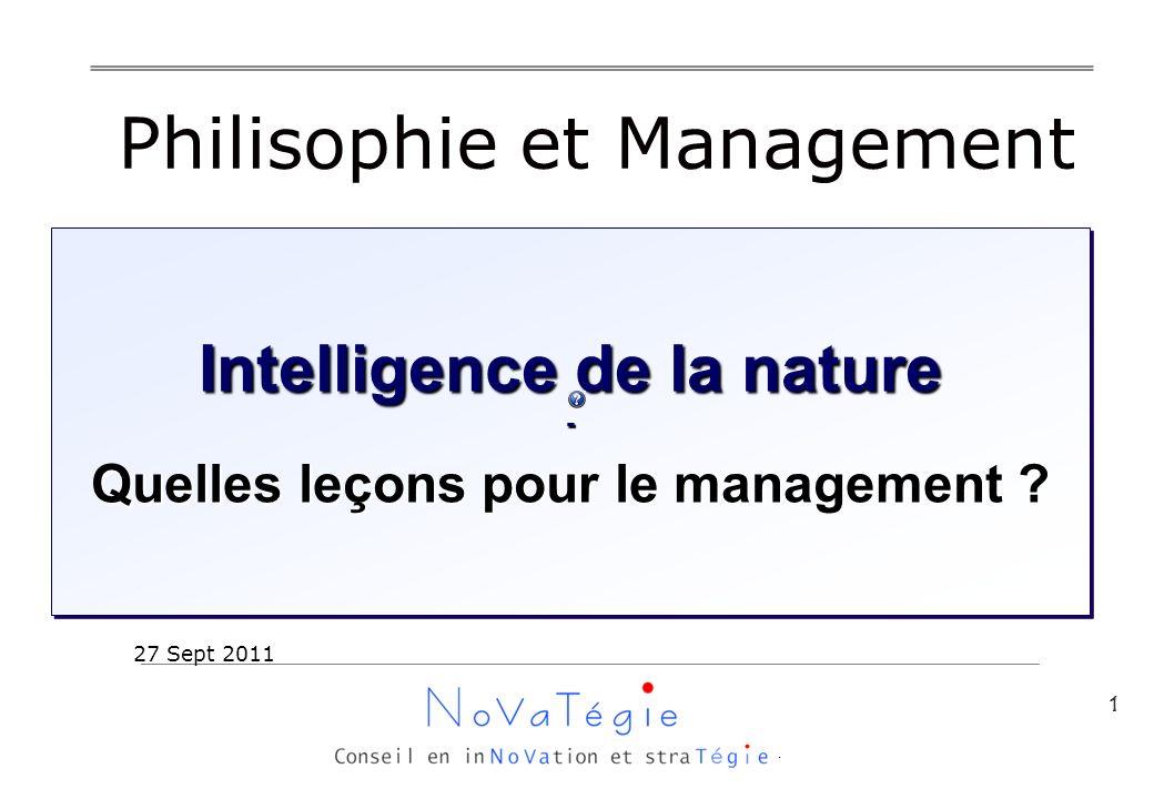 1 Intelligence de la nature - Quelles leçons pour le management .