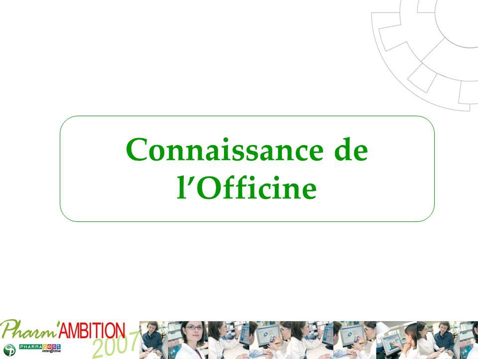Pharm Ambition – Service Clients Avril 2007 Connaissance de lOfficine