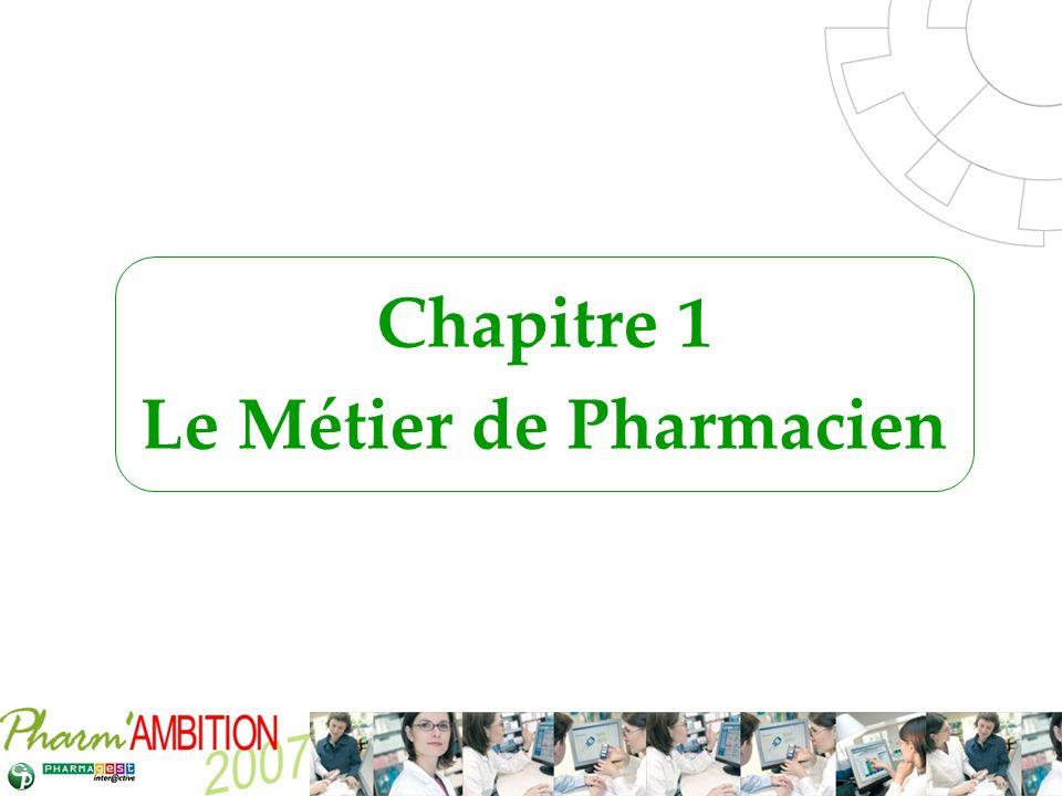 Pharm Ambition – Service Clients Avril 2007 Le Métier de Pharmacien 1.