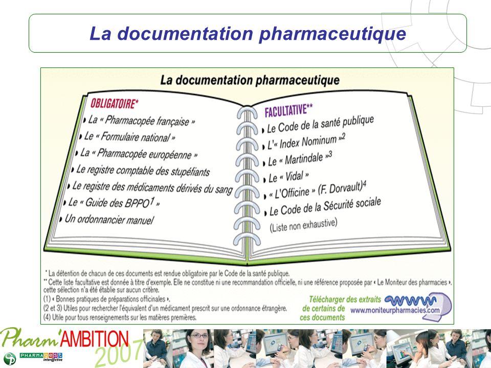 Pharm Ambition – Service Clients Avril 2007 La documentation pharmaceutique