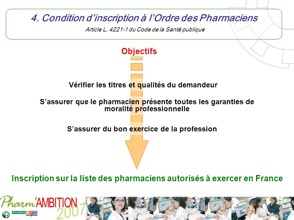 Pharm Ambition – Service Clients Avril 2007 5.