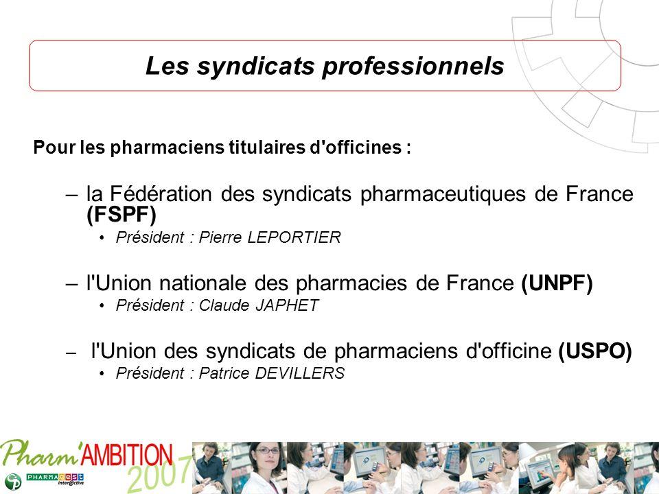 Pharm Ambition – Service Clients Avril 2007 Pour les pharmaciens titulaires d'officines : –la Fédération des syndicats pharmaceutiques de France (FSPF