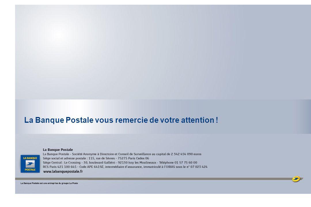 - 33 - La Banque Postale vous remercie de votre attention !