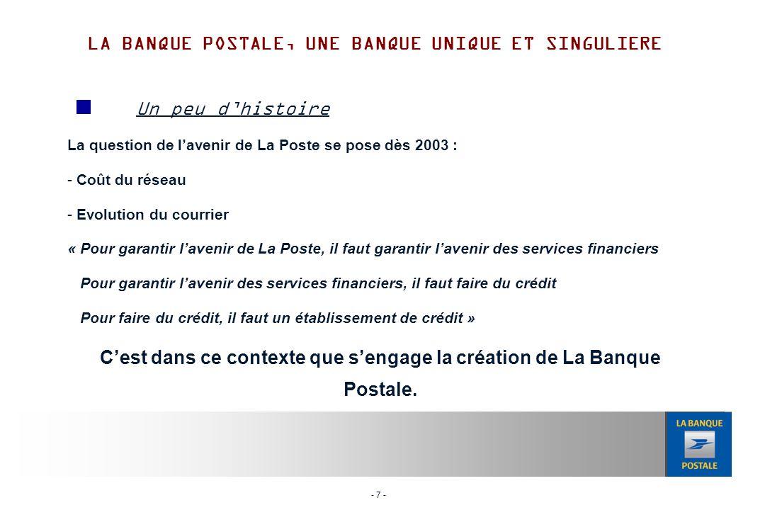 - 18 - Afin de toujours mieux servir ses clients, La Banque Postale recherche les meilleures expertises possibles.