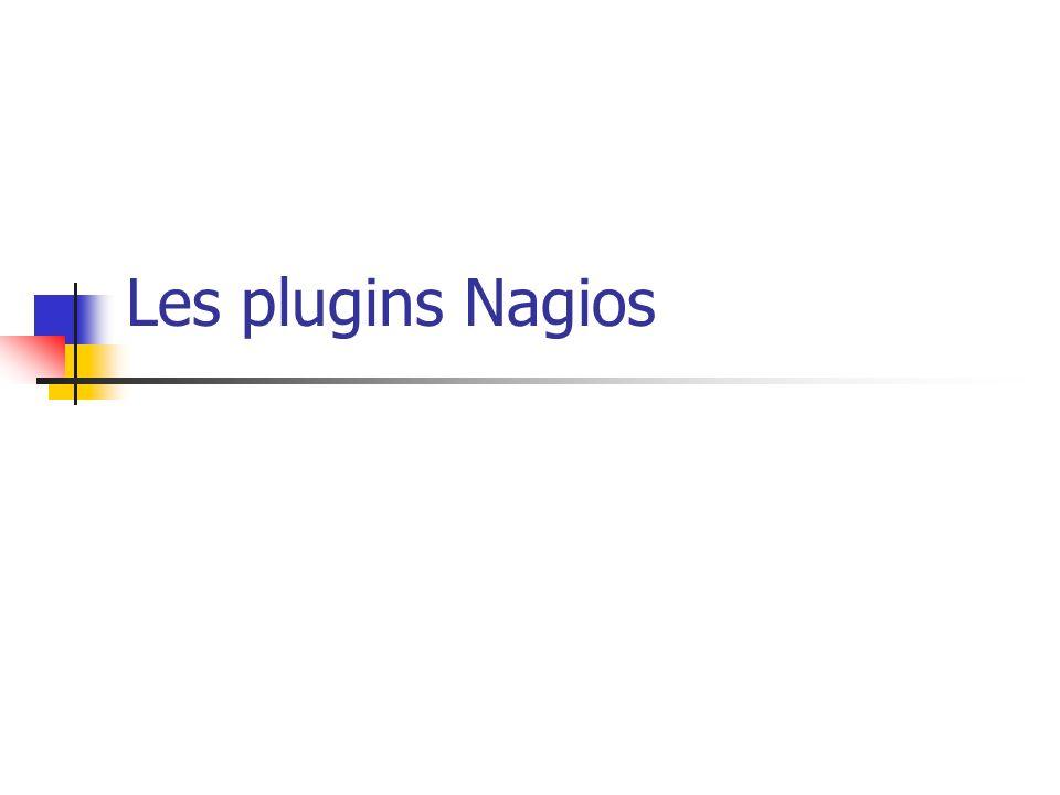 Les plugins Nagios