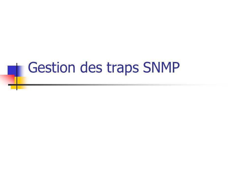 Gestion des traps SNMP