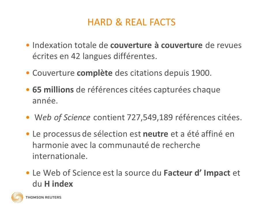 Indexation totale de couverture à couverture de revues écrites en 42 langues différentes.