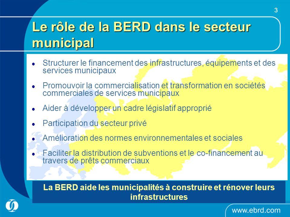 3 Structurer le financement des infrastructures, équipements et des services municipaux Promouvoir la commercialisation et transformation en sociétés