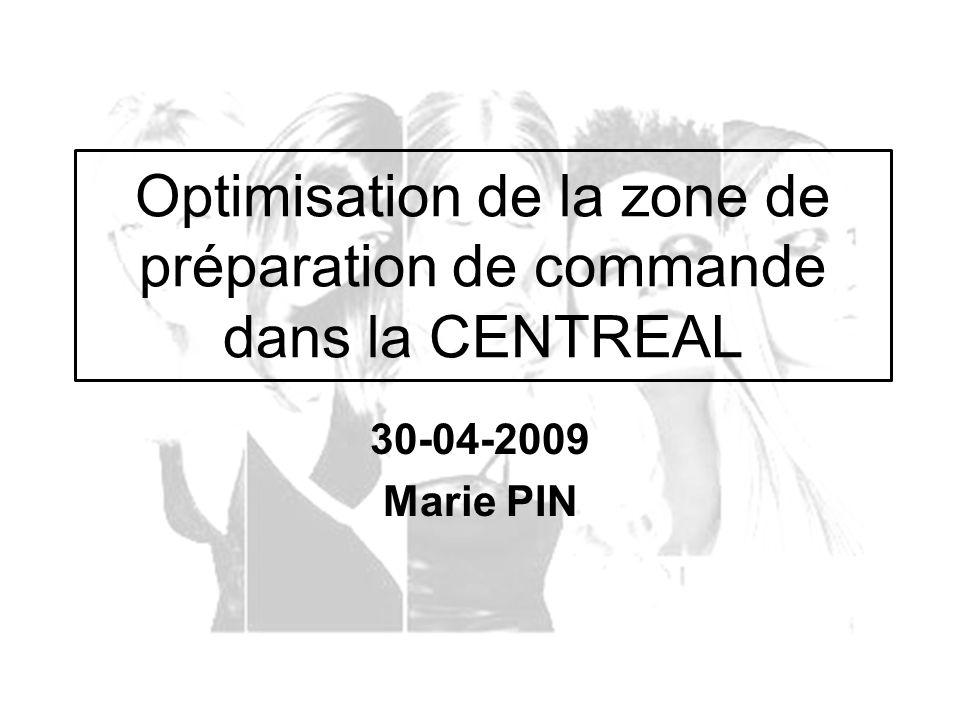 30-04-2009 Marie PIN Optimisation de la zone de préparation de commande dans la CENTREAL