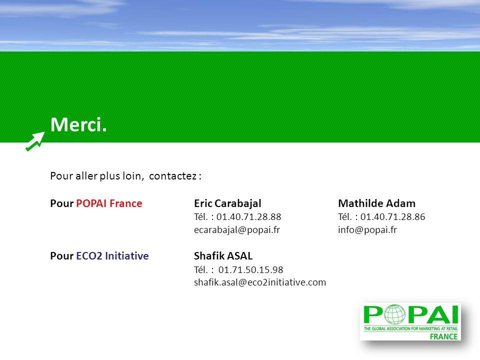 Merci. Pour aller plus loin, contactez : Pour POPAI FranceEric CarabajalMathilde Adam Tél. : 01.40.71.28.88Tél. : 01.40.71.28.86 ecarabajal@popai.fr i