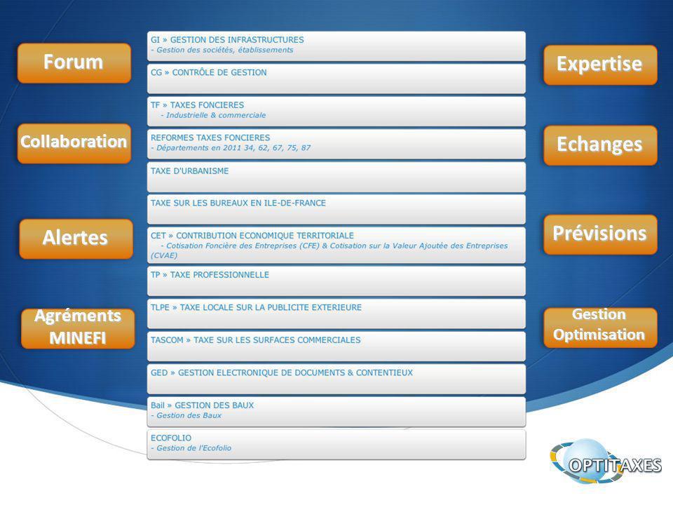 Forum Collaboration Alertes AgrémentsMINEFI Expertise Echanges Prévisions GestionOptimisation