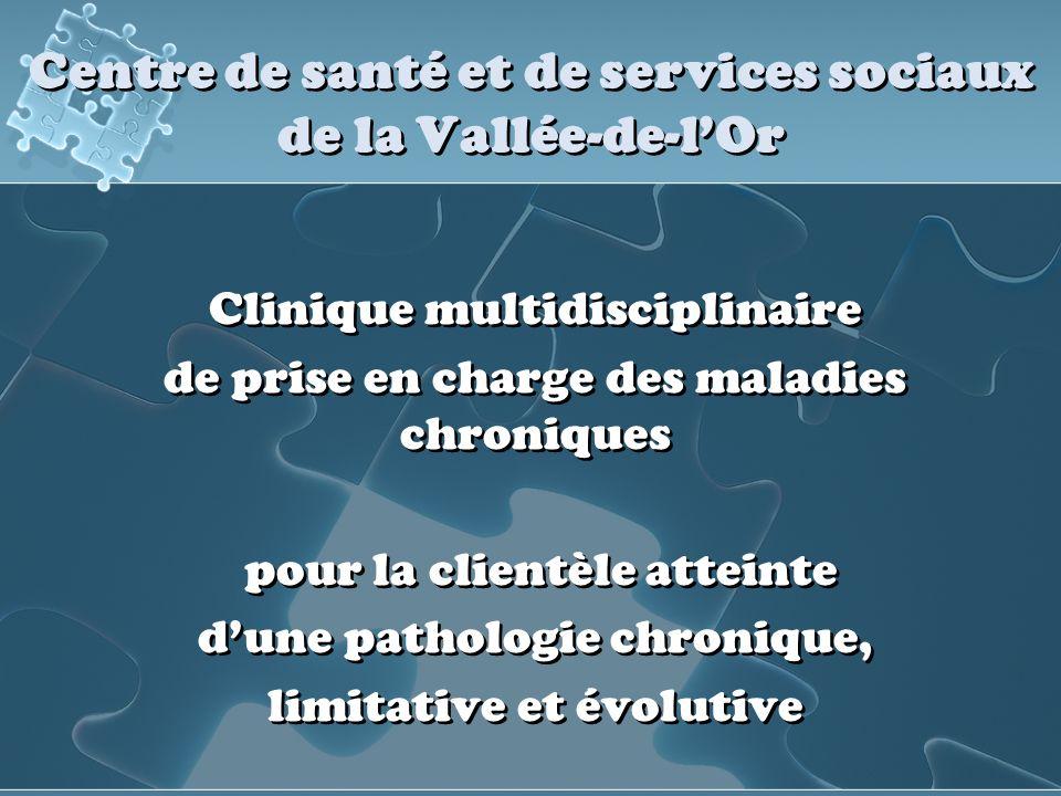 Centre de santé et de services sociaux de la Vallée-de-lOr Clinique multidisciplinaire de prise en charge des maladies chroniques pour la clientèle at