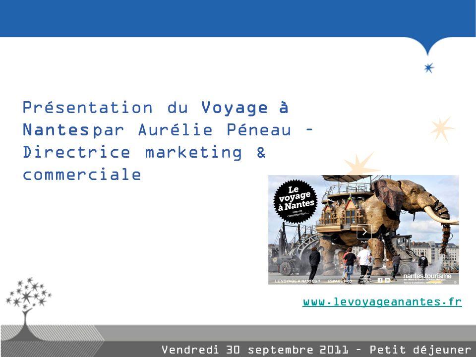 Présentation du Voyage à Nantes par Aurélie Péneau – Directrice marketing & commerciale Vendredi 30 septembre 2011 – Petit déjeuner entreprises www.le