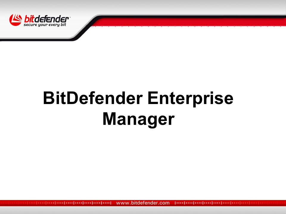 BitDefender Enterprise Manager