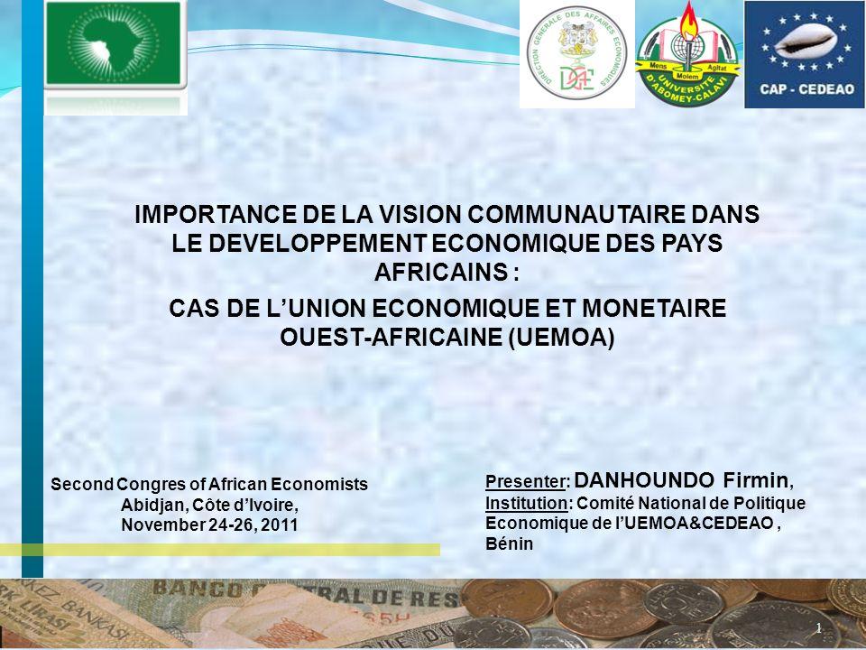 2 STRUCTURE DE LARTICLE 1- LE RESUME (SUMMARY) 2- LINTRODUCTION 3- LHISTORIQUE DE LINTEGRATION REGIONALE EN AFRIQUE DE LOUEST 4- LUEMOA EN BREF 5- LES ACTIONS COMMUNAUTAIRES ET LES OBSTACLES DEMERGENCE 6- LES RECOMMANDATIONS 7- LES REFERENCES BIBLIOGRAPHIQUES
