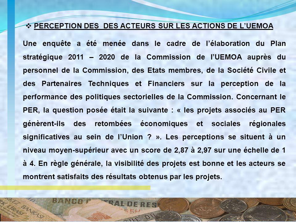 7 Une enquête a été menée dans le cadre de lélaboration du Plan stratégique 2011 – 2020 de la Commission de lUEMOA auprès du personnel de la Commissio