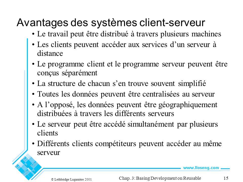 © Lethbridge/Laganière 2001 Chap.