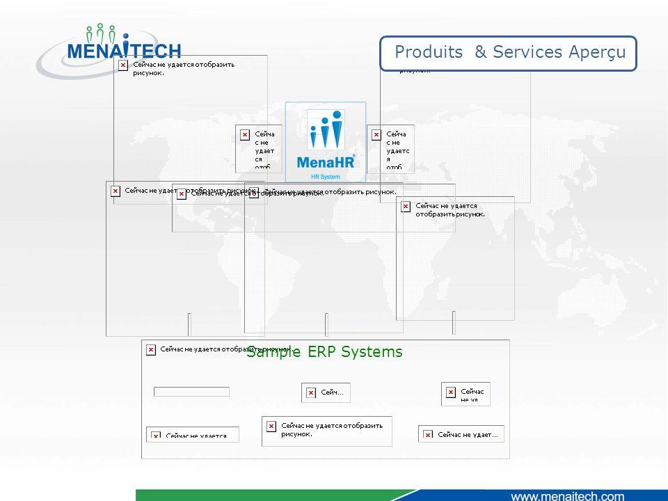 Sample ERP Systems Produits & Services Aperçu