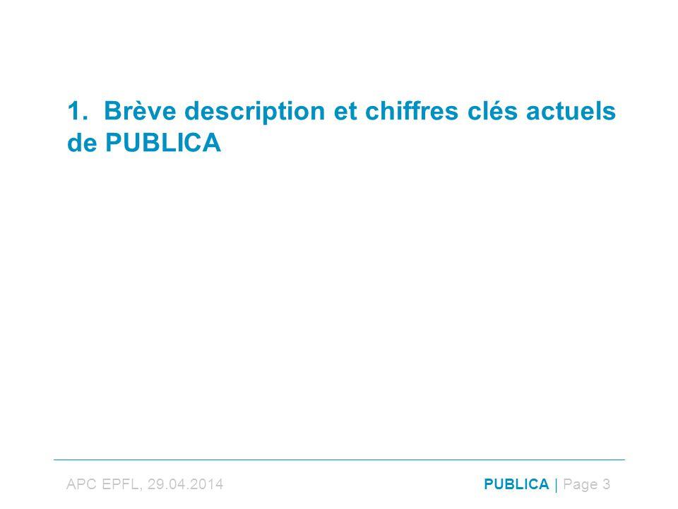 1. Brève description et chiffres clés actuels de PUBLICA APC EPFL, 29.04.2014PUBLICA | Page 3