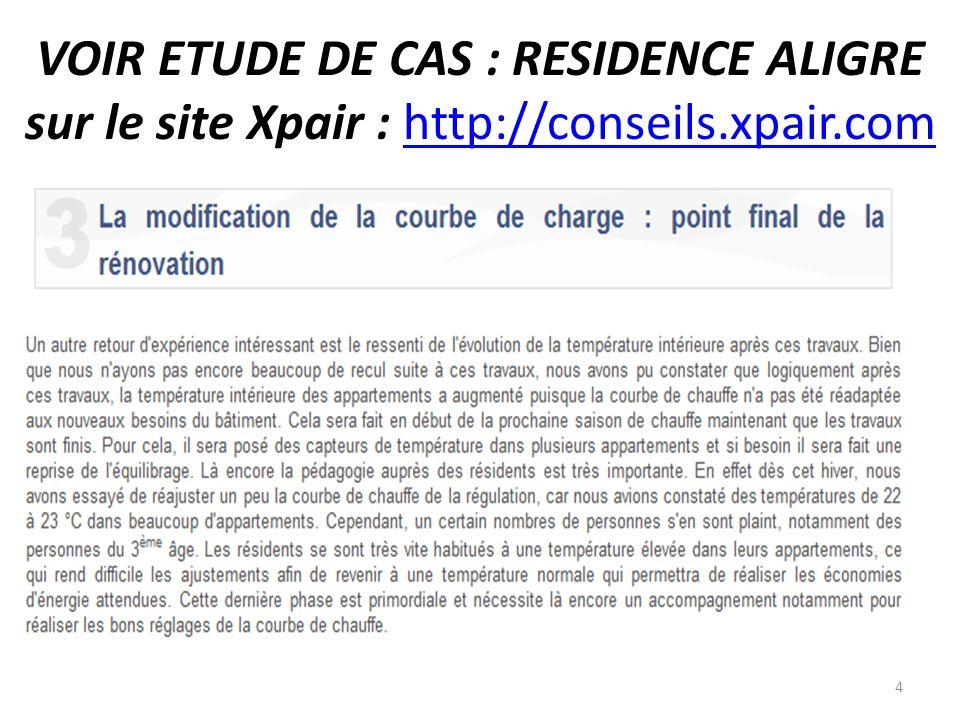 VOIR ETUDE DE CAS : RESIDENCE ALIGRE sur le site Xpair : http://conseils.xpair.comhttp://conseils.xpair.com 4