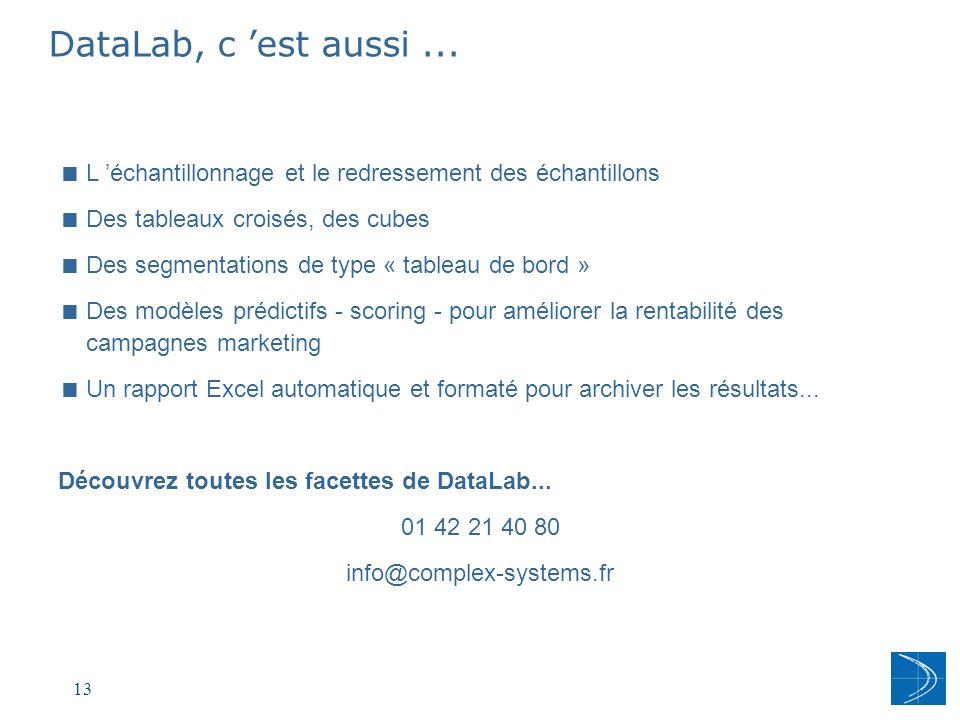 14 COMPLEX SYSTEMS 149 rue Montmartre 75002 PARIS tel 01 42 21 40 80 www.complex-systems.fr Merci
