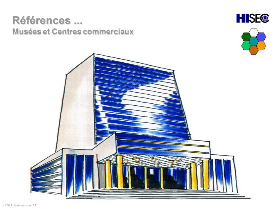 Références... Musées et Centres commerciaux HI SEC International 11