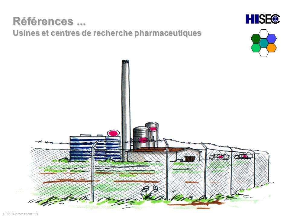 Usines et centres de recherche pharmaceutiques Références... HI SEC International 13