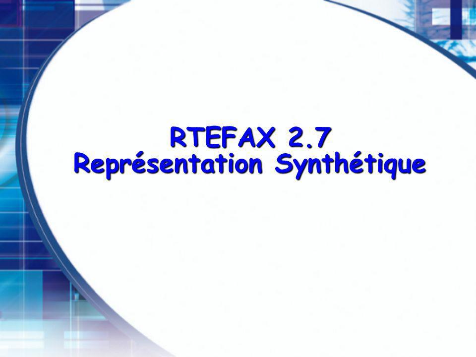 RTEFAX 2.7 Représentation Synthétique