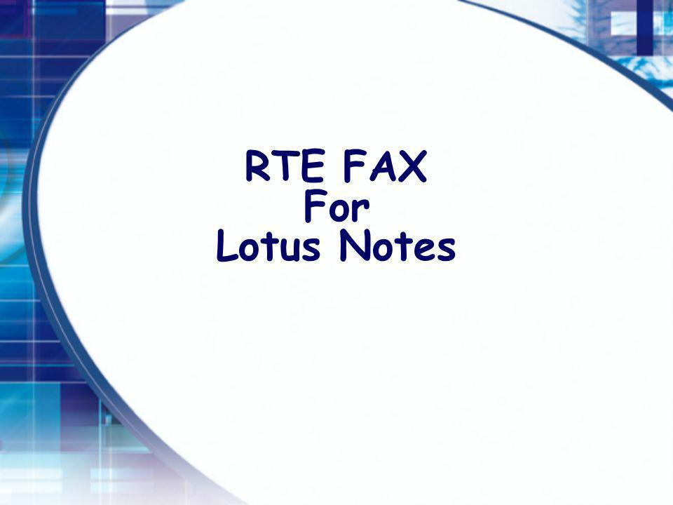 RTE FAX For Lotus Notes