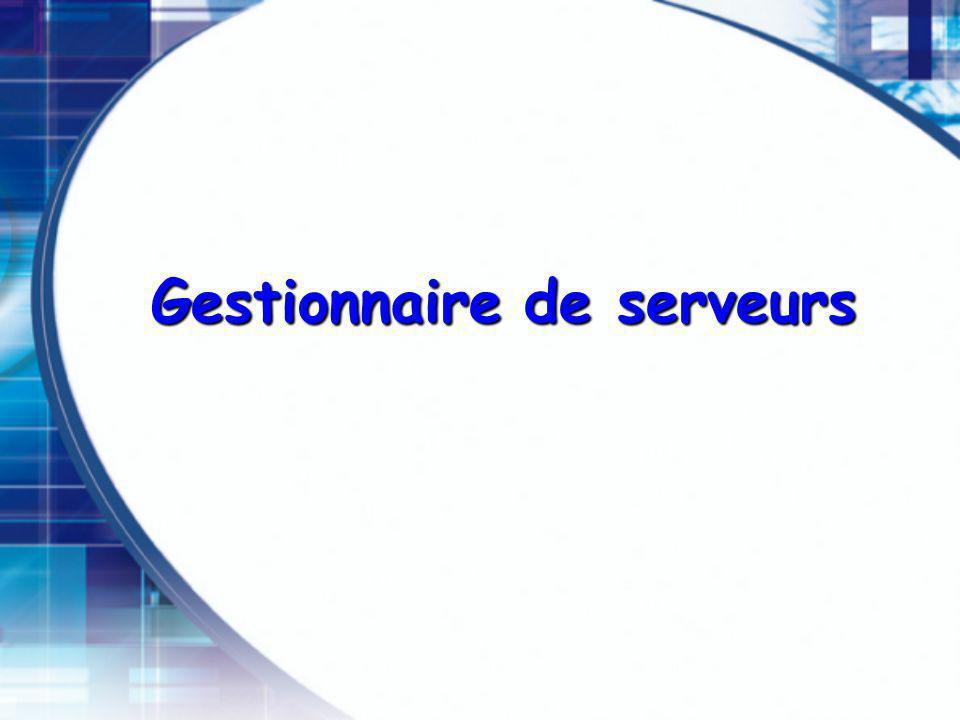 Gestionnaire de serveurs