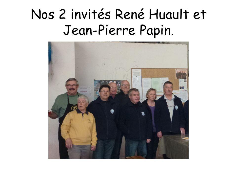 Nos 2 invités René Huault et Jean-Pierre Papin.