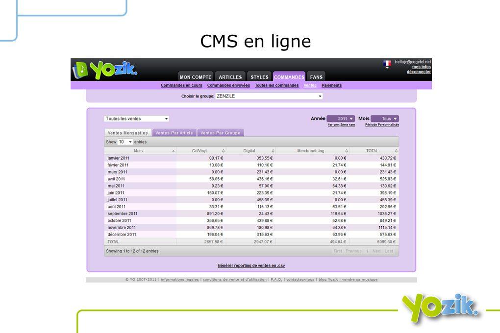 CMS en ligne