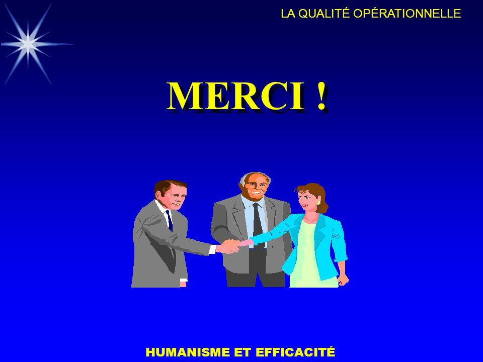HUMANISME ET EFFICACITÉ LA QUALITÉ OPÉRATIONNELLE MERCI !