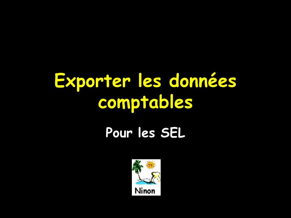 Exporter les données comptables Pour les SEL