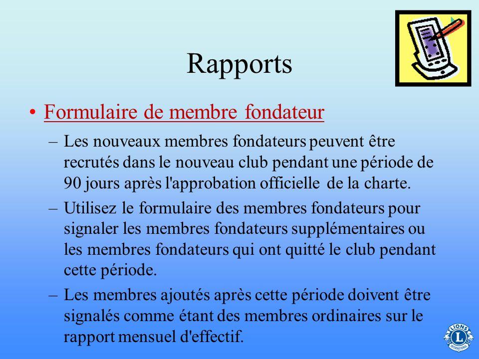 Rapports –Le secrétaire de club est chargé de suivre les activités du club. –Ces précisions sont signalées en ligne sur le site WMMR Rapport mensuel/a