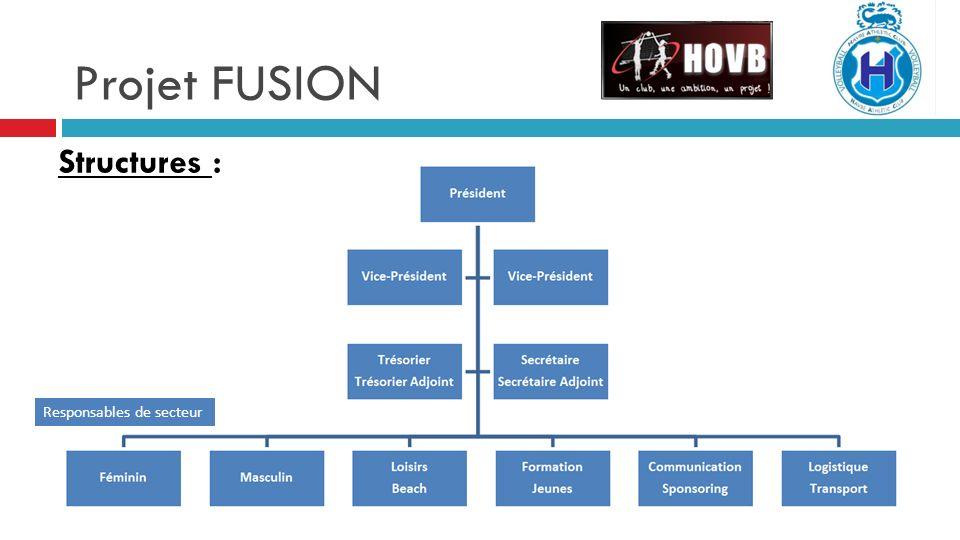 Projet FUSION Structures : Responsables de secteur