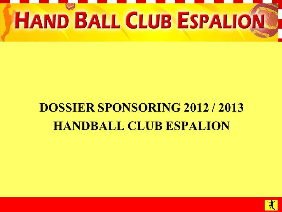 DOSSIER SPONSORING 2012 / 2013 HANDBALL CLUB ESPALION