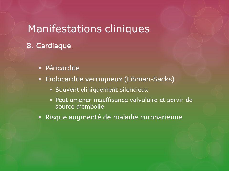 Manifestations cliniques 8.