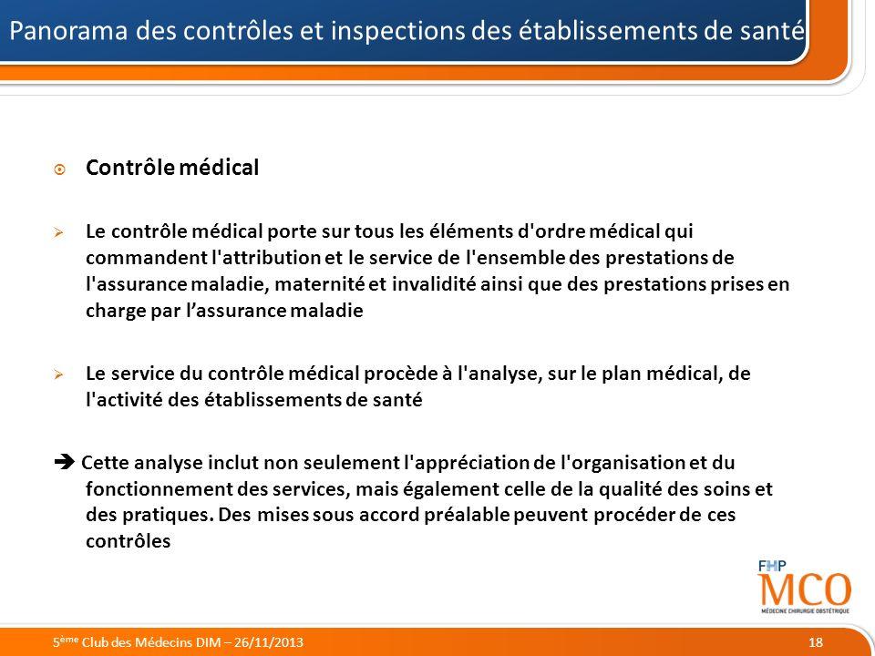 21/05/2014 Contrôle médical Le contrôle médical porte sur tous les éléments d'ordre médical qui commandent l'attribution et le service de l'ensemble d