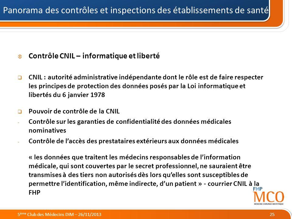 21/05/2014 Contrôle CNIL – informatique et liberté CNIL : autorité administrative indépendante dont le rôle est de faire respecter les principes de pr