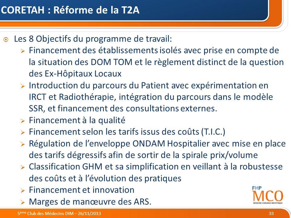 21/05/2014 Les 8 Objectifs du programme de travail: Financement des établissements isolés avec prise en compte de la situation des DOM TOM et le règle