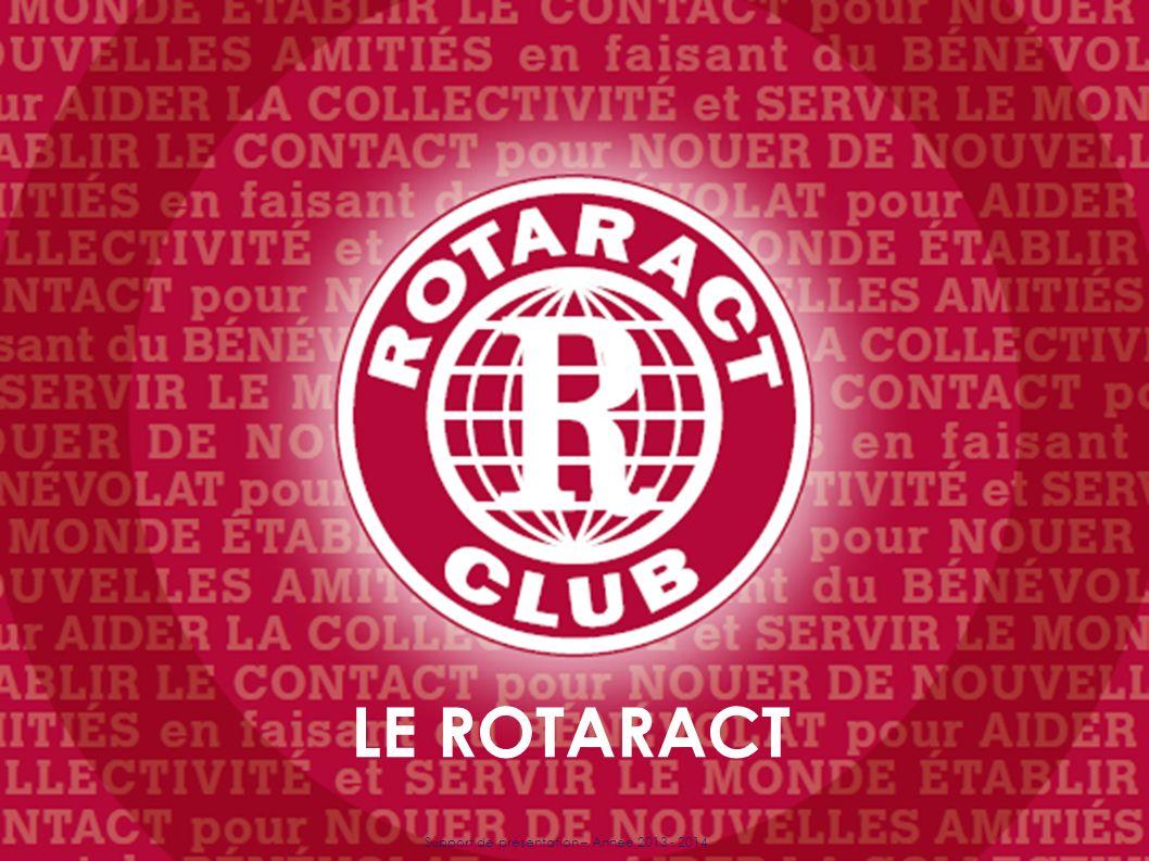 Support de présentation – Année 2013 - 2014 LE ROTARACT