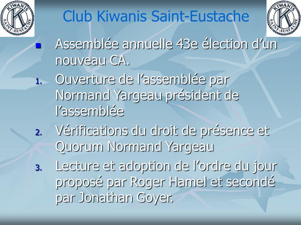 Club Kiwanis Saint-Eustache 4.