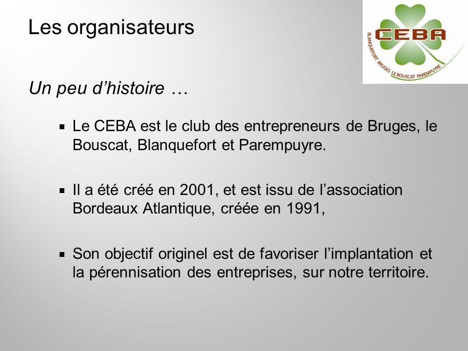 Le CEBA est le club des entrepreneurs de Bruges, le Bouscat, Blanquefort et Parempuyre. Il a été créé en 2001, et est issu de lassociation Bordeaux At