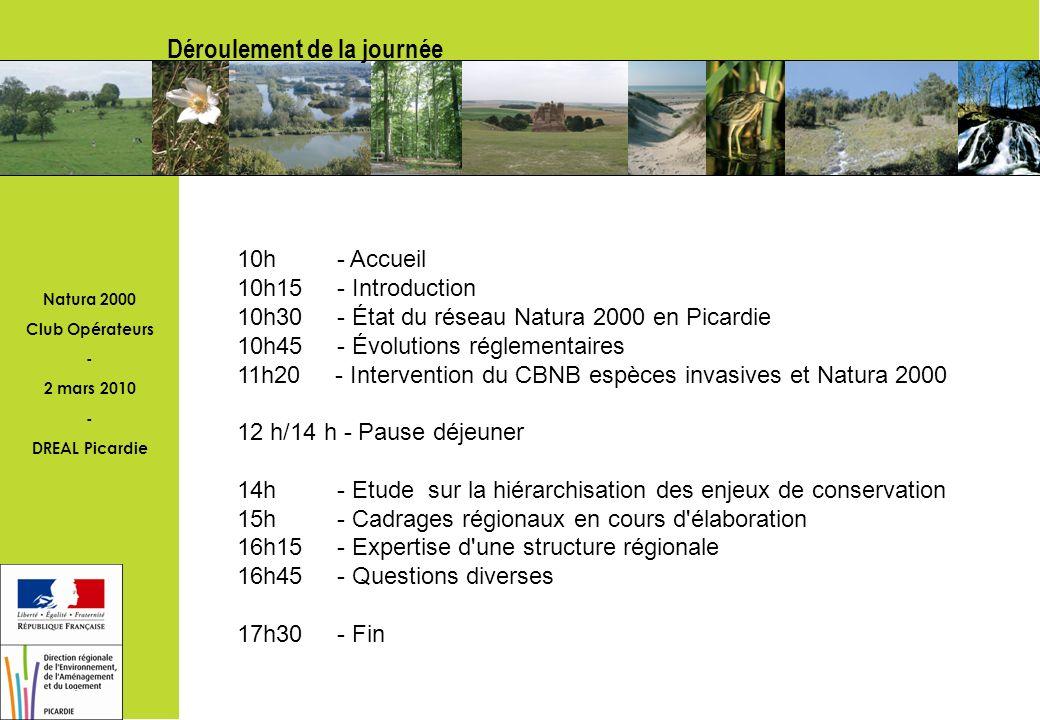 Natura 2000 Club Opérateurs - 2 mars 2010 - DREAL Picardie